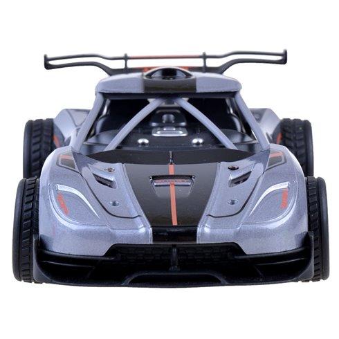 Greitas METALINIS nuotoliniu būdu valdomas automobilis PTP00517 sidabrinis