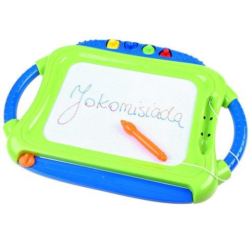 Magnetinė piešimo lentelė vaikams + antspaudai PTP00089 žalia