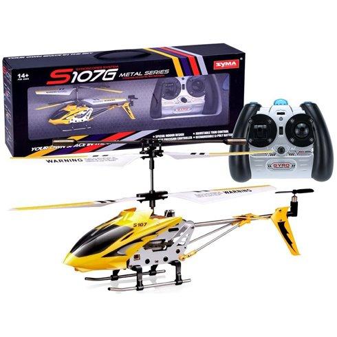 Nuotoliniu būdu valdomas sraigtasparnis SYMA  S107G PTP00431 geltonas
