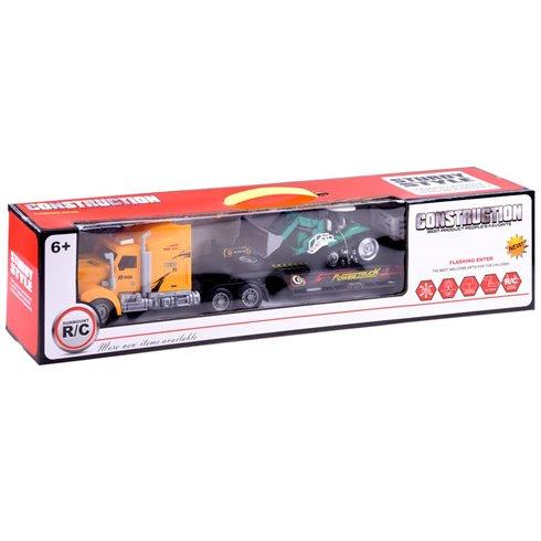 Vilkikas  su tempiama priekaba + traktorius R/C PTP00208 geltonas