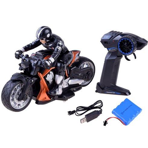 Sportinis motociklas valdomas pultu PTP00558 oranžinis