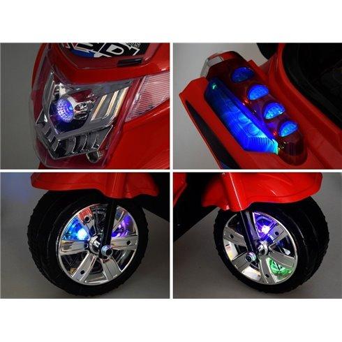 Motociklas su LED PTP00241 žalios spalvos