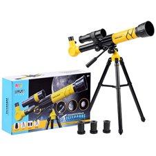 Teleskopas ant trikojo Luneta PTP03686 Geltonas
