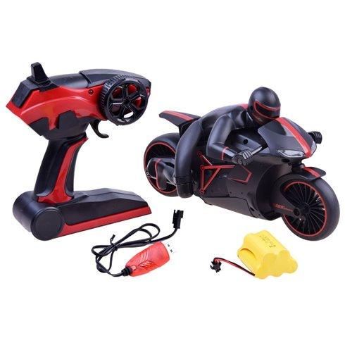 Valdomas sportinis motociklas, lenktyninis PTP00405 raudonas