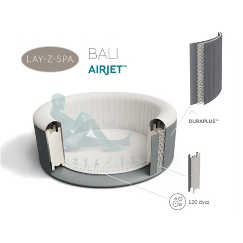 Sūkurinė vonia Bestway LayZSpa BALI 4asm. led 60009