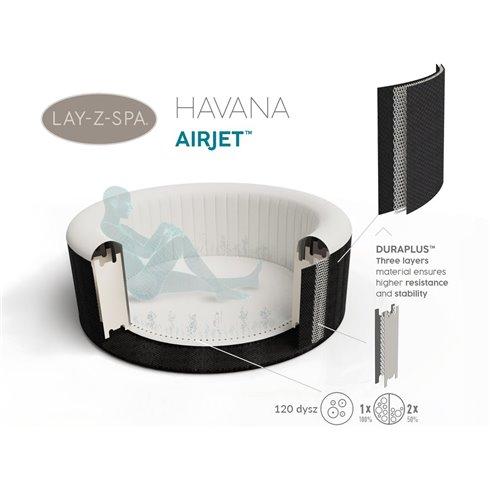 Sūkurinė vonia Bestway  Lay-Z-Spa HAVANA 180x66cm  60035