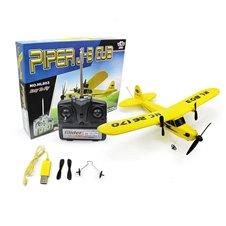 Nuotoliniu būdu valdomas lėktuvas RC HL803 Piper 2CH 150m Geltonas