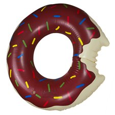 Pripučiamas spurgos formos plaukimo ratas 110 cm rudos spalvos