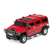 Nuotolniu būdu valdomas automobilis RC Hummer H2 - licencija 1:24 raudonas