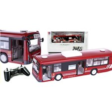 Nuotoliniu būdu valdomas autobusas RC su durelėmis raudonas
