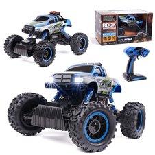 Vadomas automobilis Rock Crawler HB PICKUP 1:14 4WD mėlynas