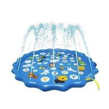 Vandens kilimėlis - baseinas kūdikiams su fontanu gyvūnėliai abėcėlė 170cm