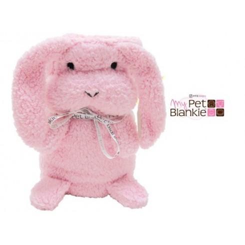 Minkštas pledas, minkšta pagalvė PTP00724 rožinis