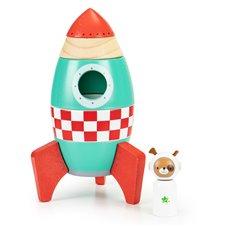 Medinė dėlionė Eko Žaislas Raketa