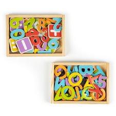Magnetiniai skaičiai ir raidės Eko Žaislas Skrynelėje