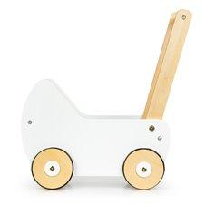Medinis lėlių vežimėlis Eko Žaislas Baltas