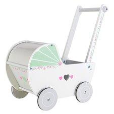 Medinis lėlių vežimėlis Eko Žaislas Mėtinis