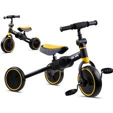 Rowerek 3w1 trójkołowy, jeździk, biegowy SP0663 Yellow