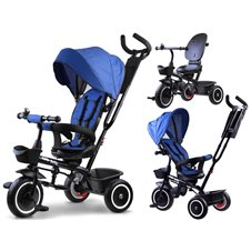 Triratukas JOK Tiny Bike 3in1 su pasukama sėdyne PTP00650 Blue