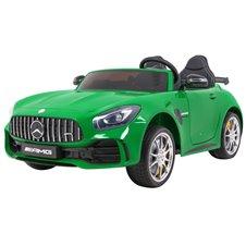 Vaikiškas elektromobilis RMZ Mercedes-Benz GT R 4 x 4 Painted Žalias