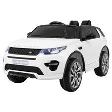 Elektromobilis RMZ Land Rover Discovery Baltas