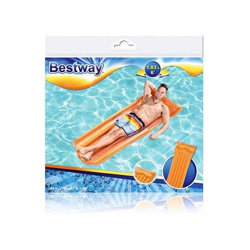 Paplūdimio čiužinys Bestway Deluxe 44013 oranžinis