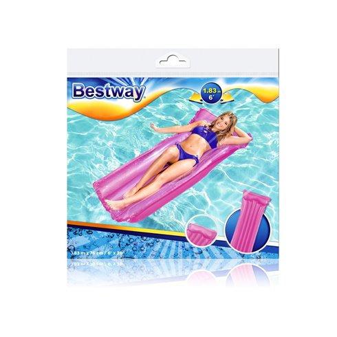 Paplūdimio čiužinys Bestway Deluxe 44013 rožinis