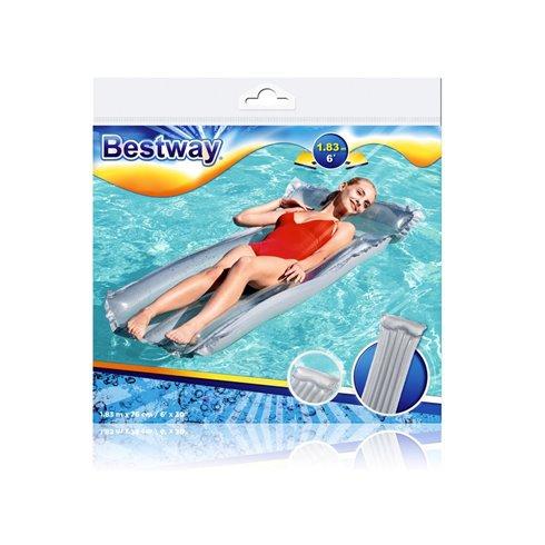 Paplūdimio čiužinys Bestway Deluxe 44013 sidabrinis