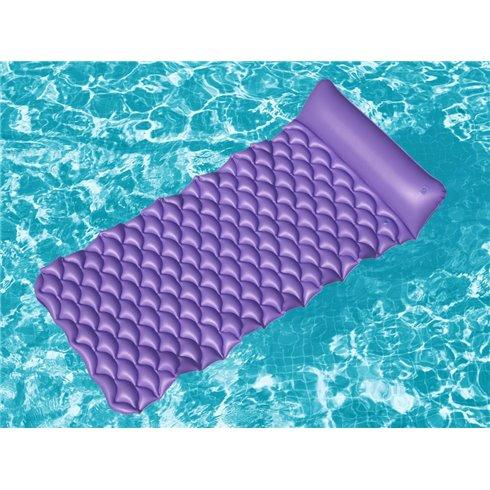 Pripučiamas čiužinys Bestway Roll-up 44020 violetinis