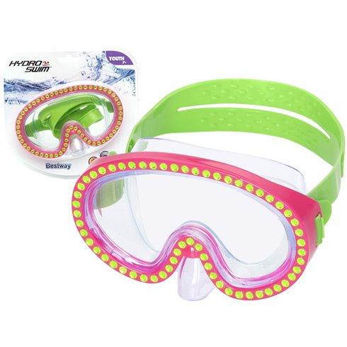 Bestway maska do pływania zdobiona kryształ 22062 Pink