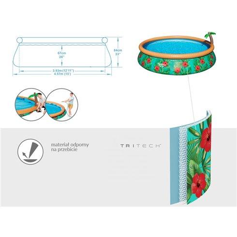 Pripučiamas baseinas su palme 457x84 cm 7in1 57416