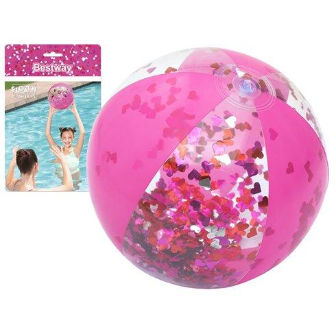 Bestway PINK dmuchana plażowa piłka 41 cm 31050 Pink