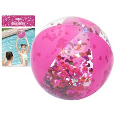 Pripučiamas paplūdimio kamuolys Bestway31050 rožinis