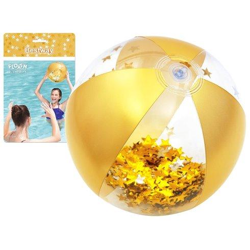 Bestway dmuchana piłka plażowa 41 cm glamour 31050 Yellow