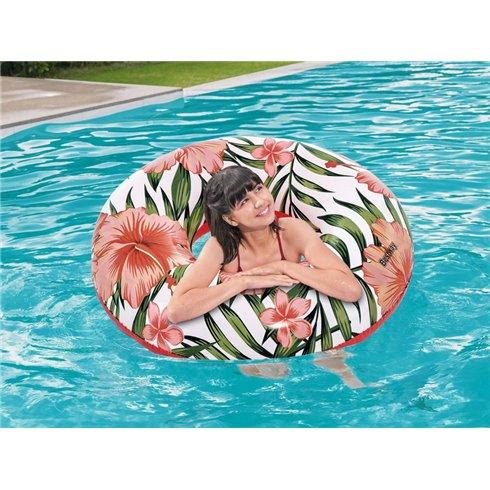 Pripučiamas plaukimo ratas Bestway 36237 rožinis