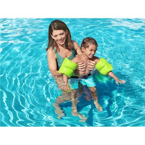 Bestway pripučiamos rankovės skirtos mokytis plaukti 32005 žalios
