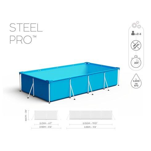 Baseinas Bestway Steel Pro Splash Frame 300x201x66cm 56404