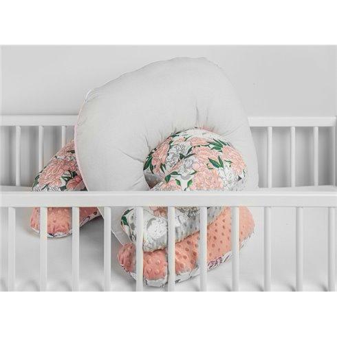 Maitinimo pagalvė Sillo Minky Pilkos gėlės