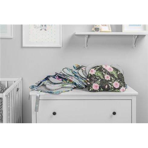 Pagalvė vežimėliui Sillo Velvet Pilka Gėlės
