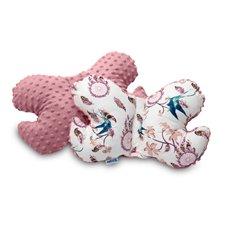 Drugelio formos pagalvė Sillo 25x36 Rožinė Paukščiai