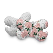 Drugelio formos pagalvė Sillo 25x36 Pilka Gėlės