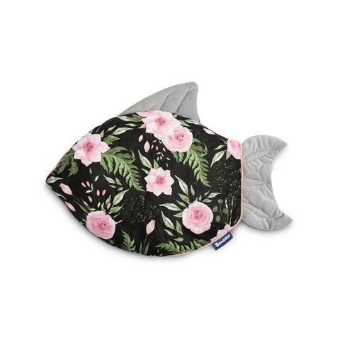Pagalvė Sillo Velvet Žuvytė Juoda Gėlės