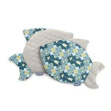Pagalvė Sillo Velvet Žuvytė Mėlyna Ornamentai
