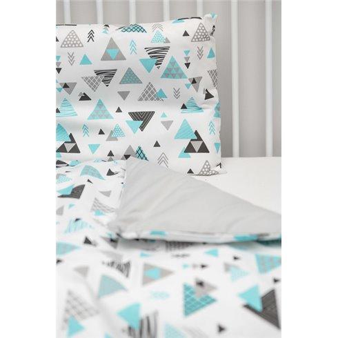 Patalynės komplektas Sillo Mėlyni trikampiai 2 dalys