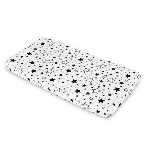 Paklodė su guma Sillo 120x60 Juodos žvaigždės