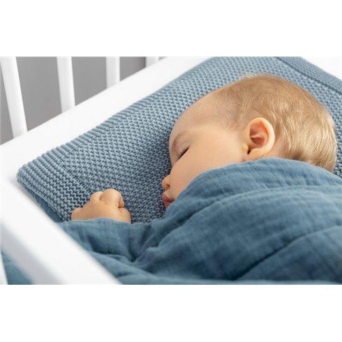 Megztas pagalvės ir antklodės rinkinys Sillo Mėlynas