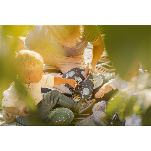 Pagalvė vežimėliui Sillo Wafel Gyvūnų pasaulis Pilka