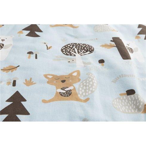 Pagalvė ir pledukas Sillo Medvilnė-muslinas Mėlyni miško draugai