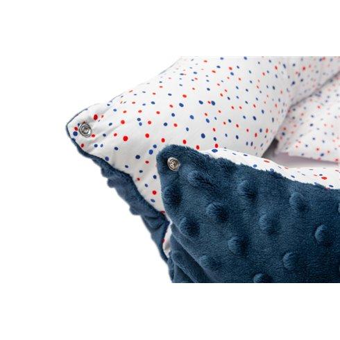 Kūdikio lizdas Sillo Mėlyni taškiukai 70x30