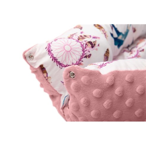 Kūdikio lizdas Sillo Retro rožinės gėlės 70x30